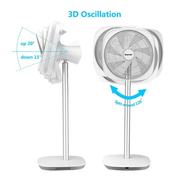 Energy Saving 3D Oscillation Floor Electric Stand Fan Timer with Remote Control