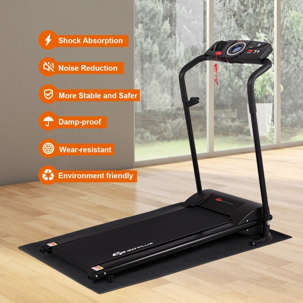 Use On Hardwood Carpet Protection Treadmill Mat For Floors Multifunctional Wear-resistant Fitness Mat Anti-shock Floor Protector NAKELUCY Exercise Equipment Mats For Home Gym