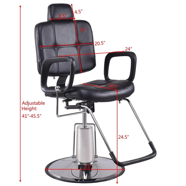 Magnificent Reclining Hydraulic Beauty Styling Salon Barber Chair Creativecarmelina Interior Chair Design Creativecarmelinacom