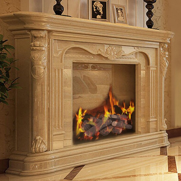 Gas Inserts or Outdoor Fireplaces /& Fire Pits Propane Ethanol Regal Flame 8 Piece Set of Ceramic Wood Medium Gas Fireplace Logs Logs For All Types of Indoor Ventless /& Vent Free Gel Electric RFA2508